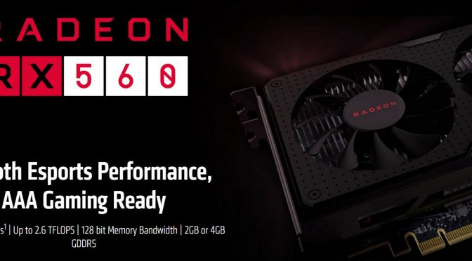AMD quietly downgrades Radeon RX 560 GPUs, selling models with fewer stream processors & compute units
