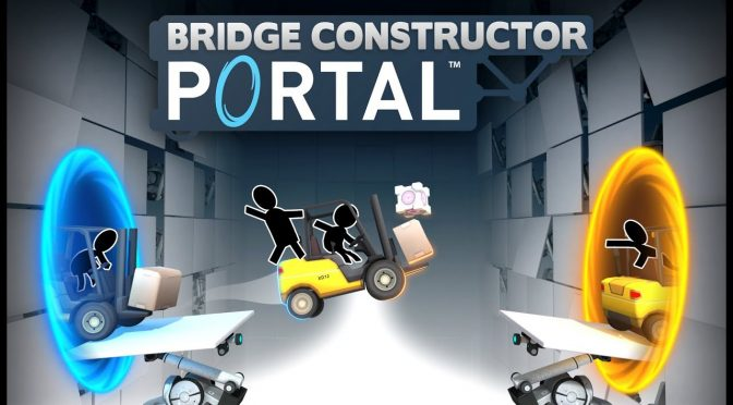 Here are the first 9 minutes of gameplay footage from the Portal spin-off, Bridge Constructor Portal