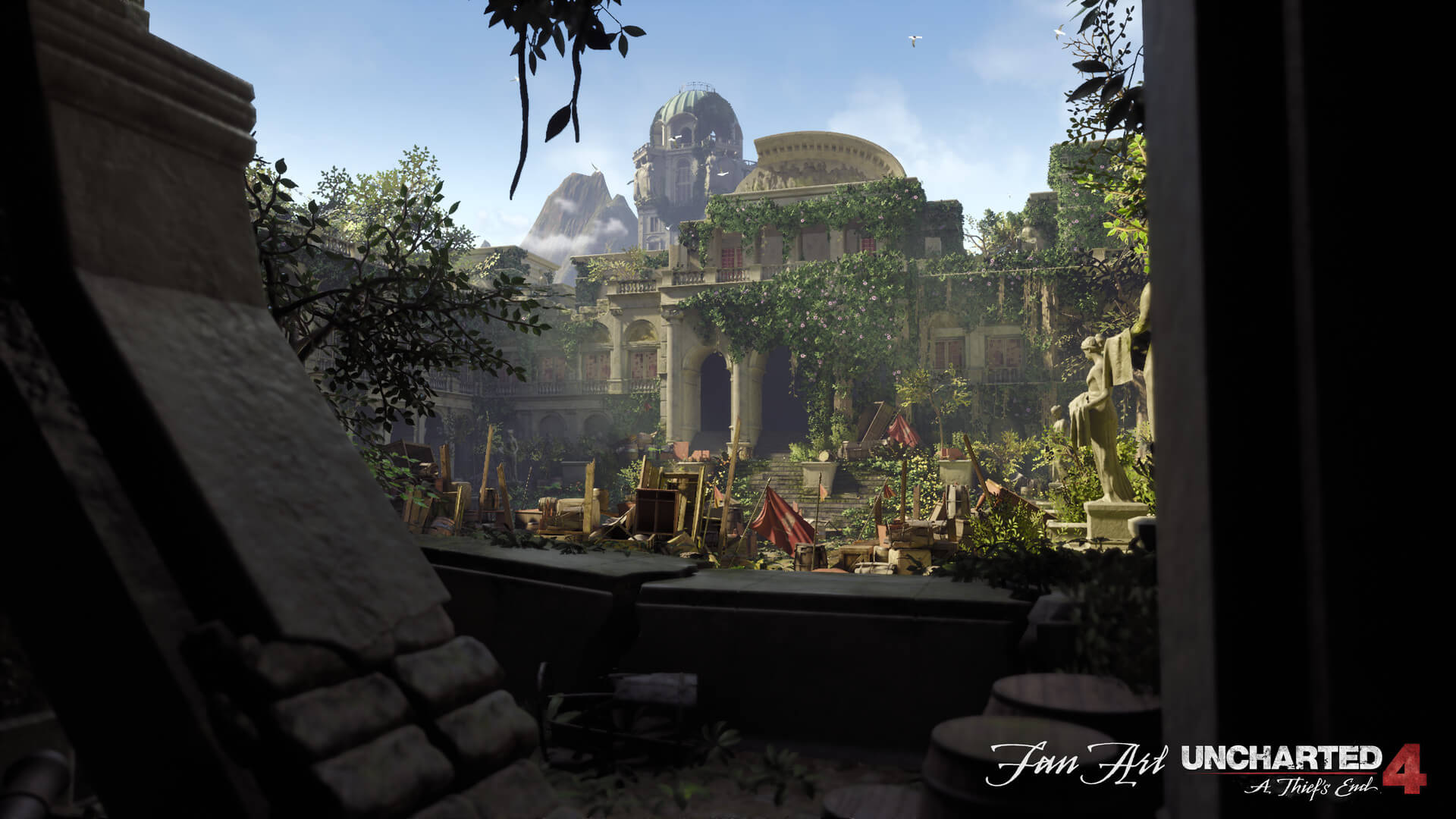Someone has recreated Uncharted 4's Treasury Courtyard in