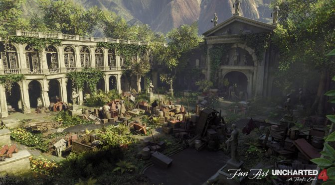 Someone has recreated Uncharted 4's Treasury Courtyard in Unreal Engine 4 and it looks really cool