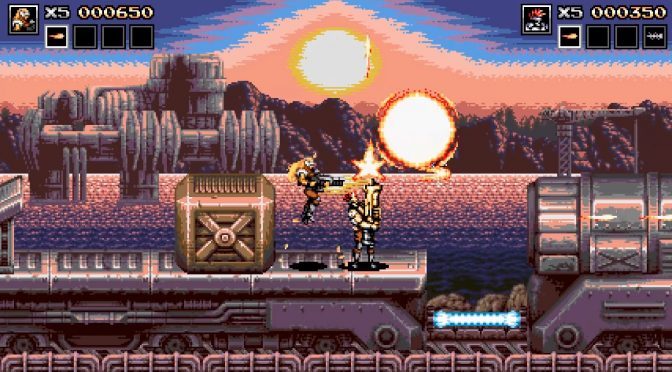 Contra & Metal Slug-inspired platformer, Blazing Chrome, releases on July 11th