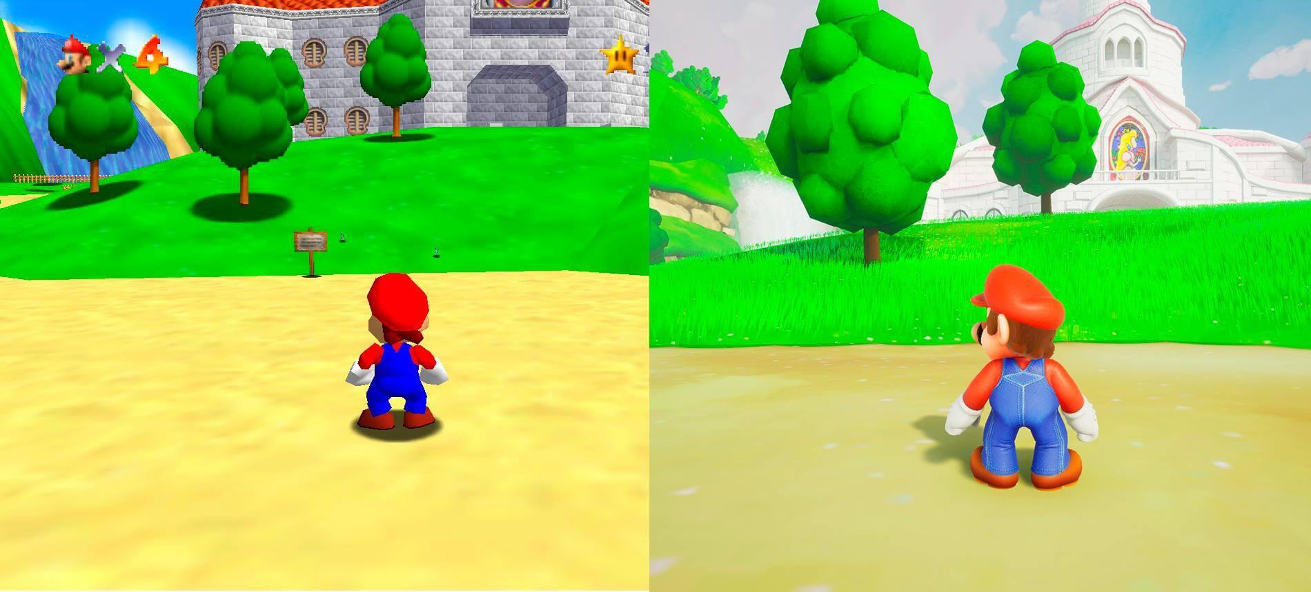 Super Mario 64 Nintendo 64 Versus Unreal Engine 4 Pc Fan