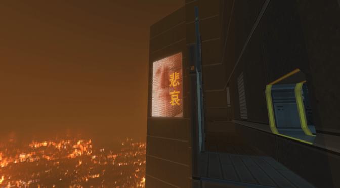 Doom meets Deus Ex in this custom exploration-heavy cyberpunk map for Doom 2/GZDoom