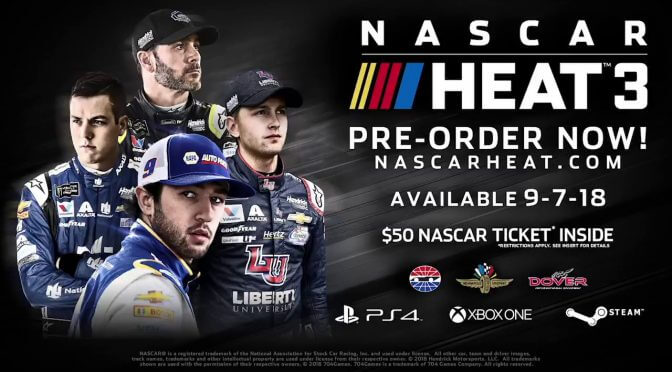 NASCAR Heat 3 officially releases on September 7th