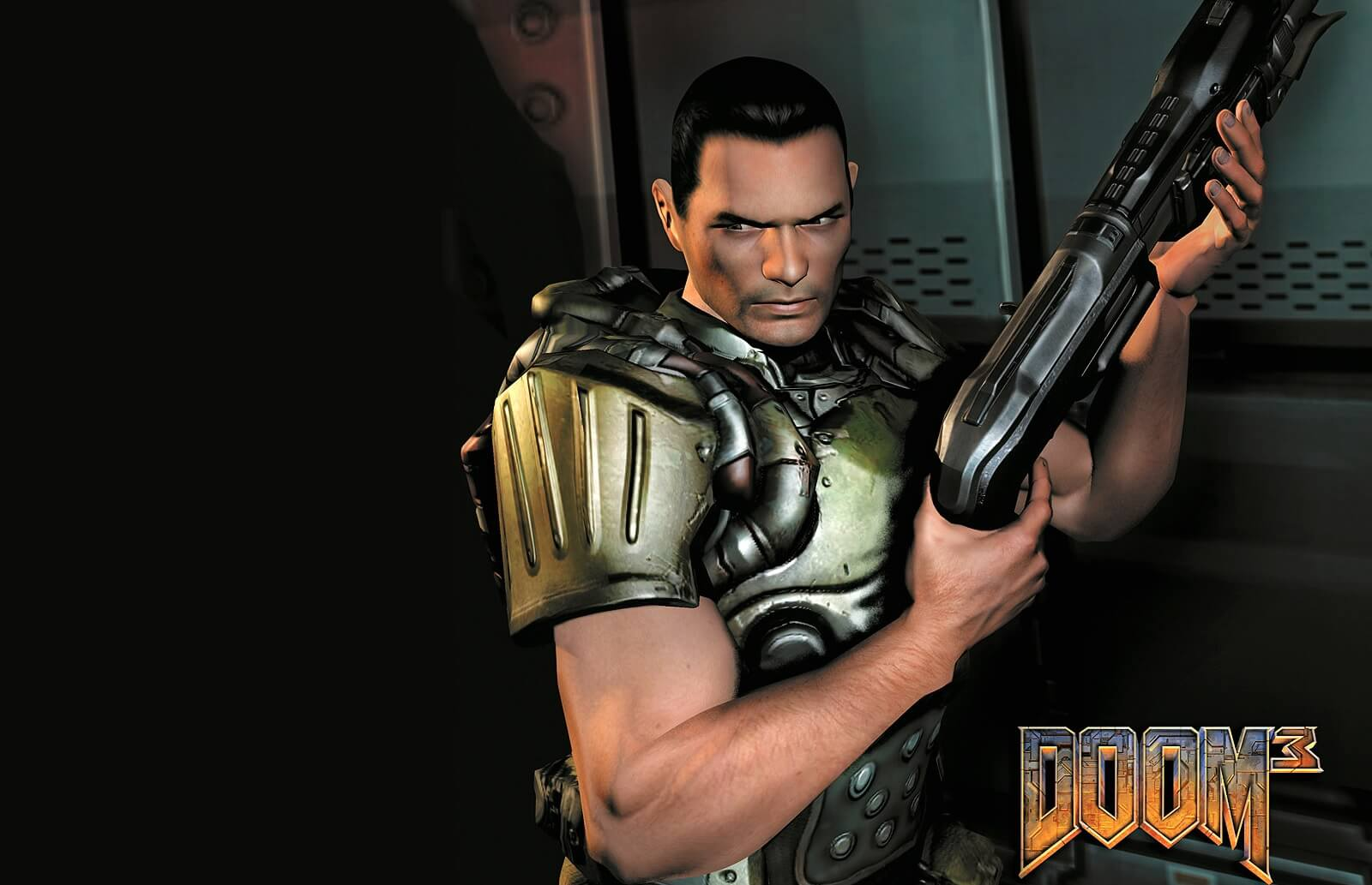 You can now play Doom 3 in third-person mode with the HUD enabled