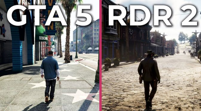 Grand Theft Auto 5 vs Red Dead Redemption 2 video comparison