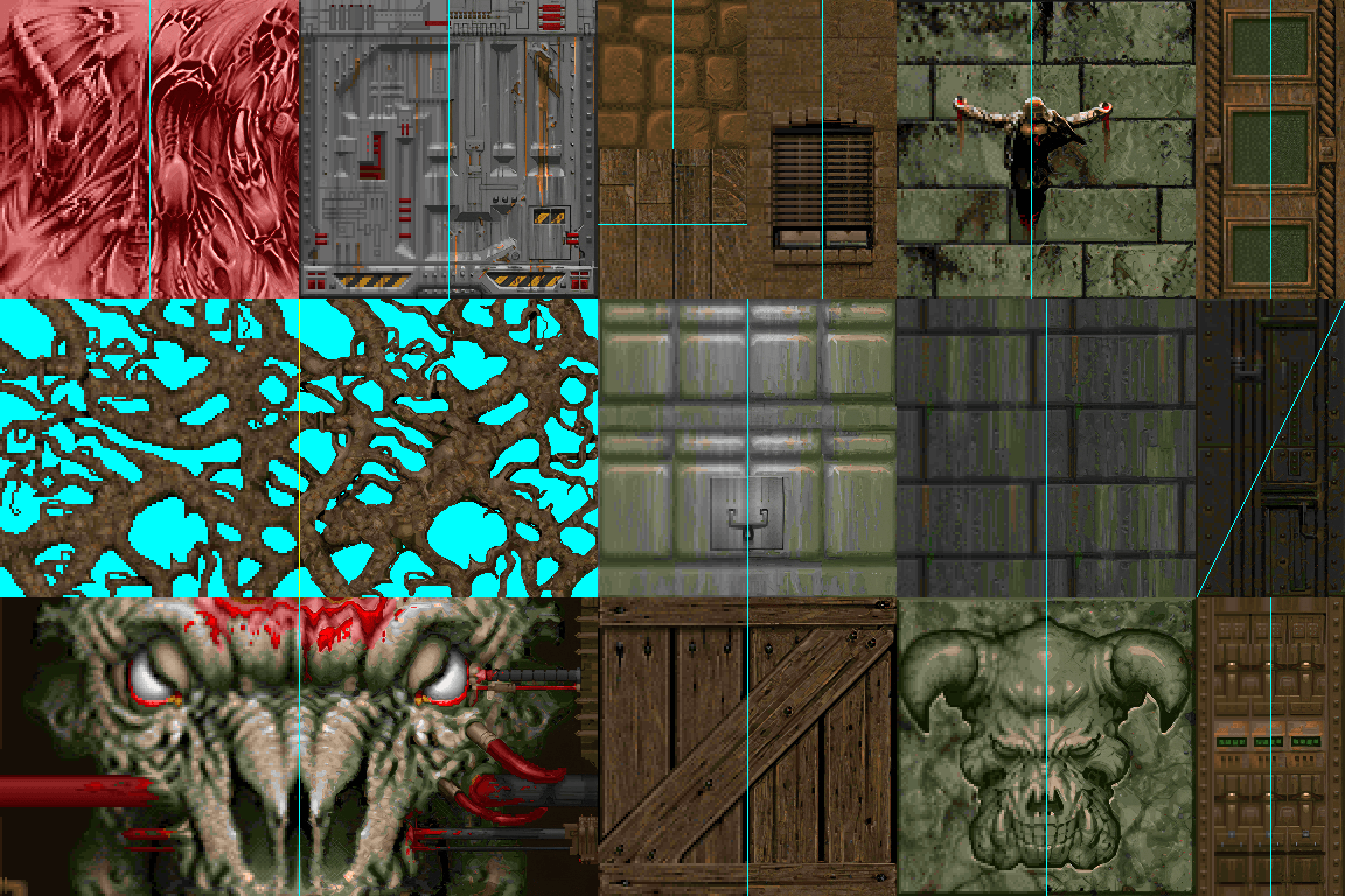 This HD Texture Pack for Doom upscales the textures via AI