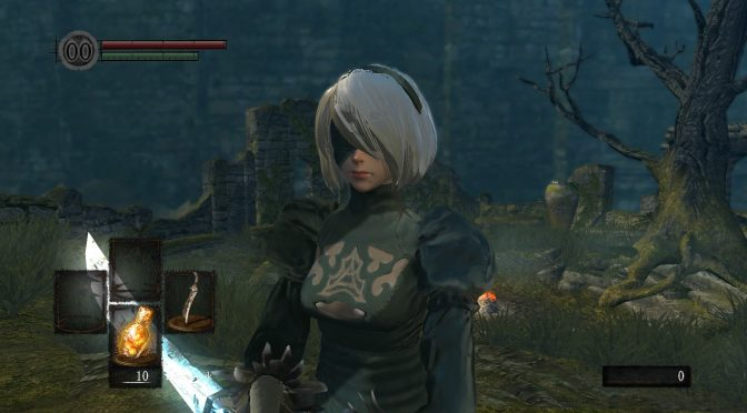 New version of the NieR Automata 2B mod for both Dark Souls and Dark Souls Remastered released