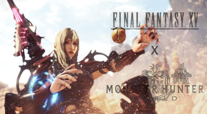 This mod brings Final Fantasy XV's female mercenary, Aranea, to Monster Hunter World