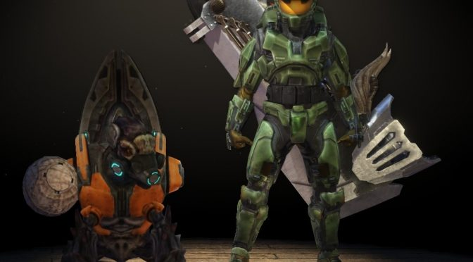 This mod brings Halo's Masterchief to Monster Hunter World