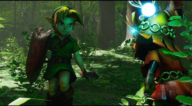 The Legend of Zelda: Ocarina of Time Lost Woods remake in Unreal Engine 4 available for download