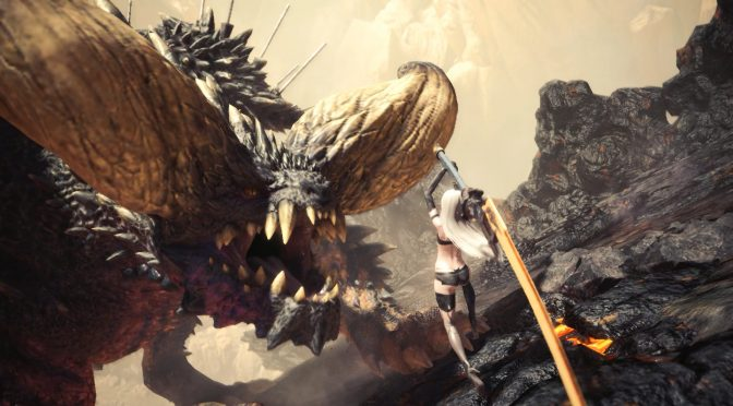 This mod brings A2 from NieR Automata to Monster Hunter World, available for download