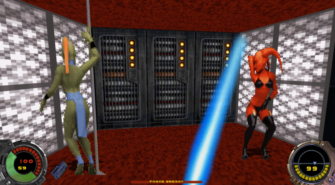 Duke Forces Version 2.10, Star Wars: Dark Forces mod for Duke Nukem 3D, adds new sprites