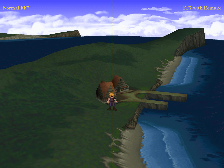 Final Fantasy VII Remako HD Graphics Mod, AI Gigapixel