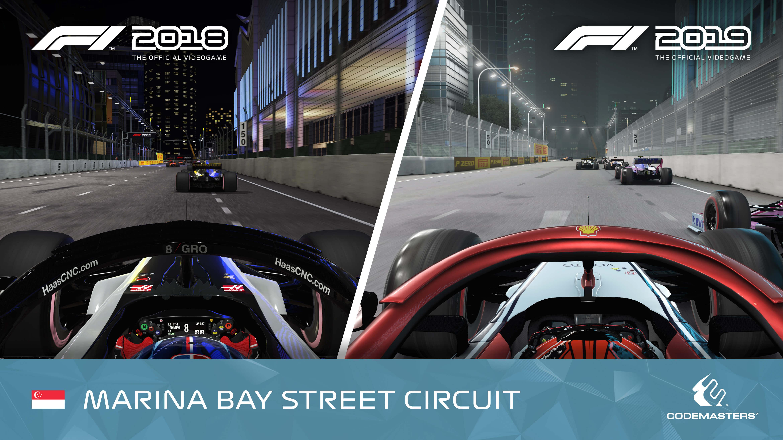 F1 2019 vs F1 2018 official graphics comparison screenshots
