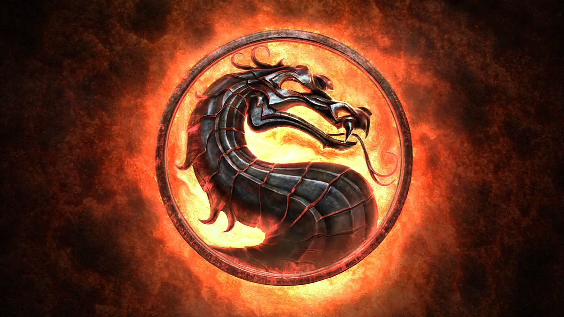 Mortal Kombat classic fire logo