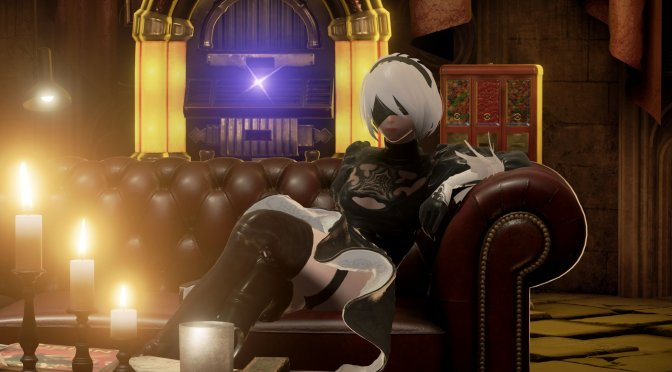 You can now play as 2B from NieR Automata in CODE VEIN, with full skirt cloth physics