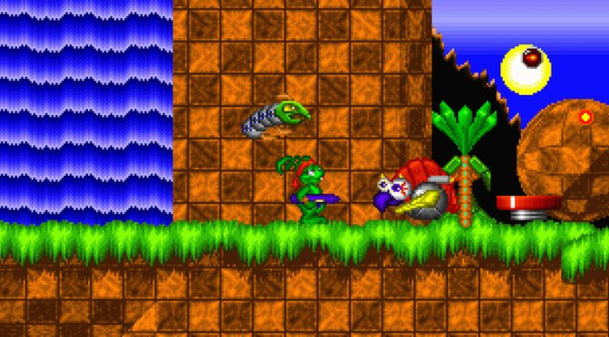 You can now play this Jazz Jackrabbit vs Sonic mashup on your browser for free