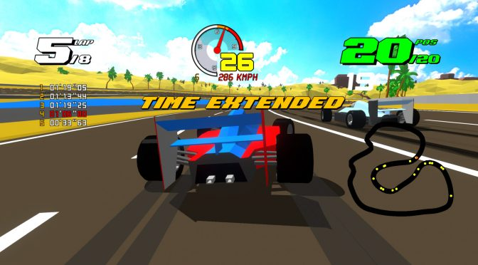 Formula Retro Racing is a retro racing game that looks similar to SEGA's Virtua Racing