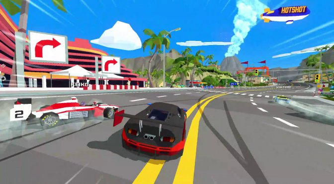 Retro-inspired racing game, Hotshot Racing, is coming to the PC in Spring 2020