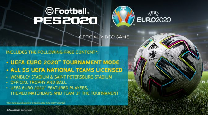 UEFA EURO 2020 is coming to eFootball PES 2020 on April 30th as a free update
