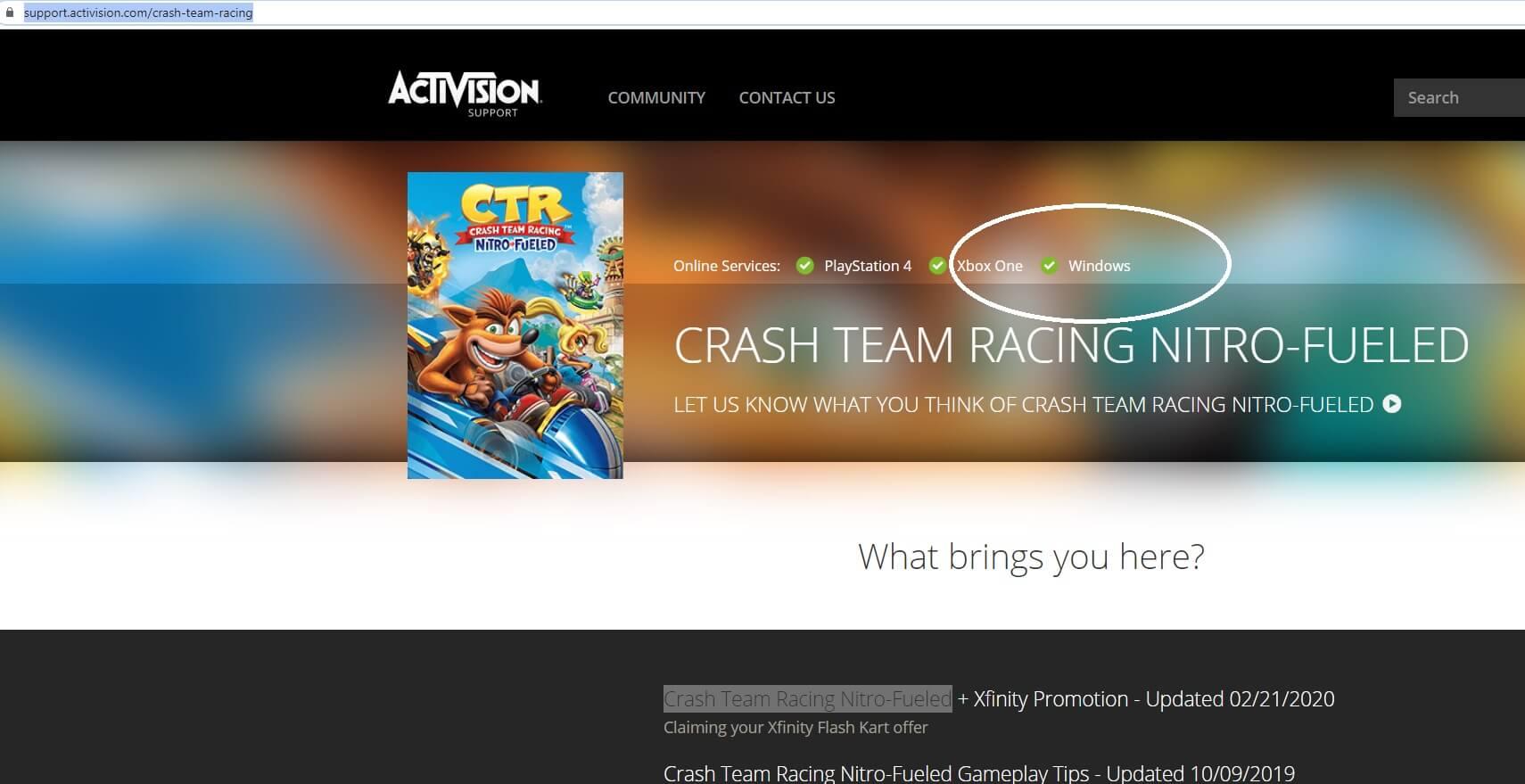 تلميحات الموقع الرسمي في Crash Team Racing Nitro-Fueled القادمة إلى جهاز الكمبيوتر 1