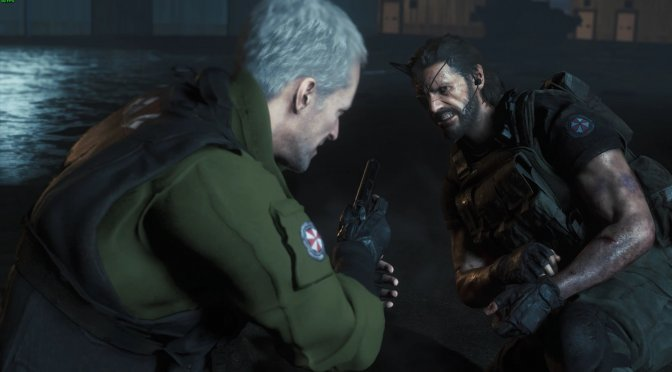 Metal Gear Solid 5 Big Boss invades Resident Evil 3 Remake, featuring full facial animations