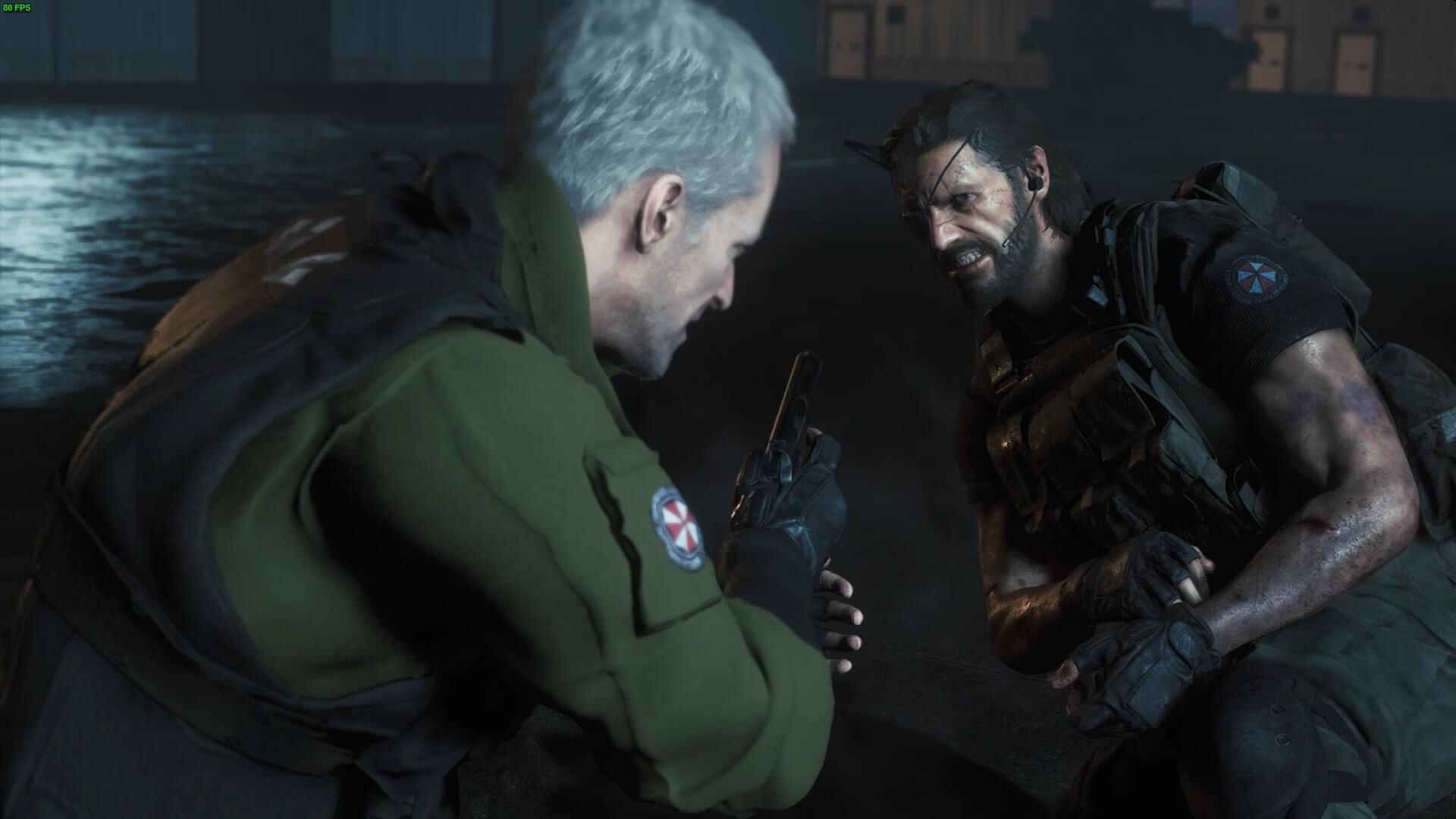Metal Gear Solid 5 Big Boss Invades Resident Evil 3 Remake