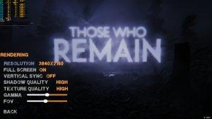 Those Who Remain graphics settings-1