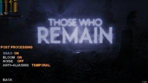 Those Who Remain graphics settings-2