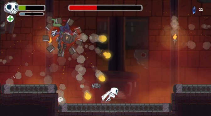 Skelattack is a new cool action platformer, available on Steam now and published by Konami