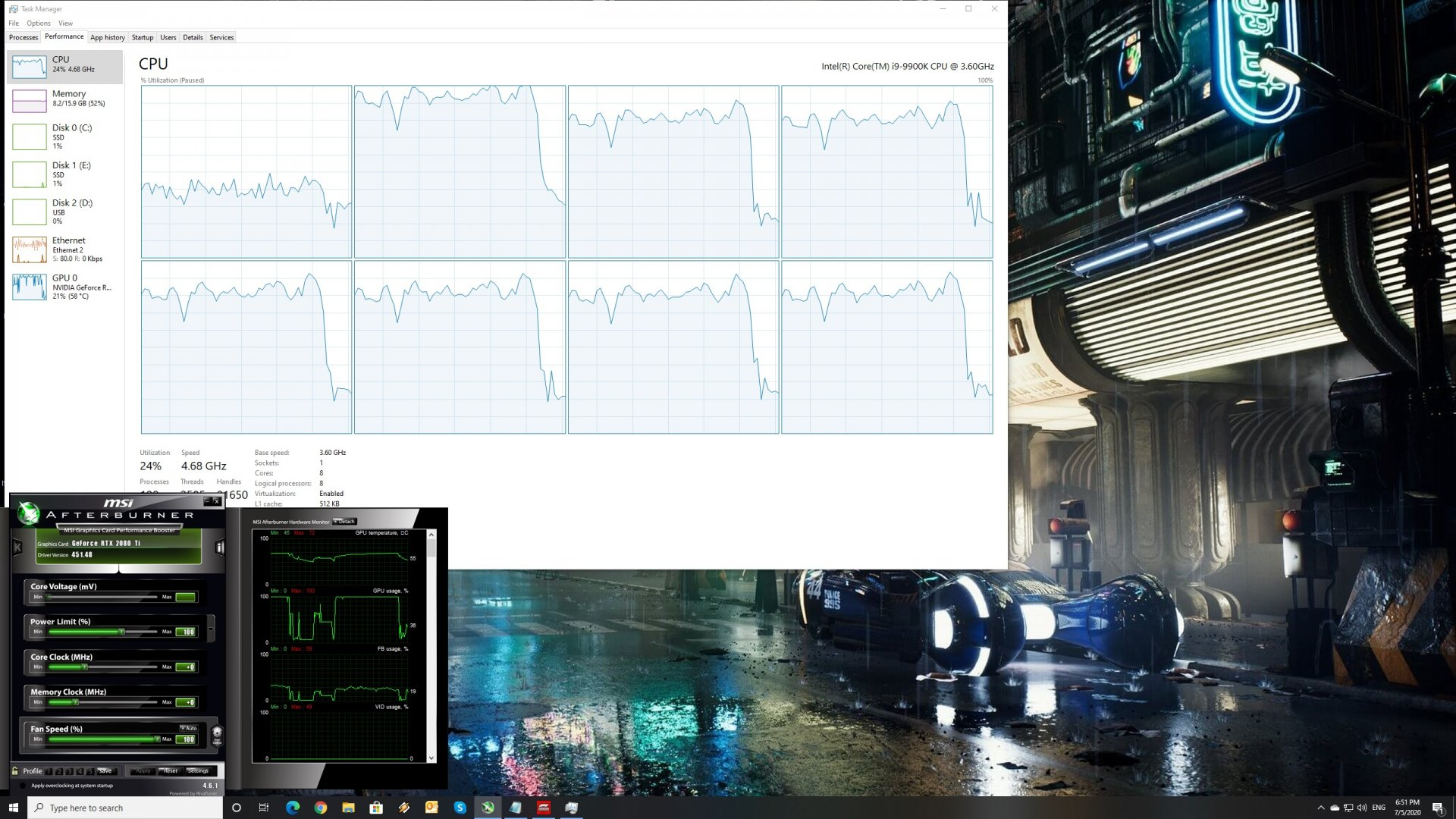 F1 2020 benchmarks CPU scaling