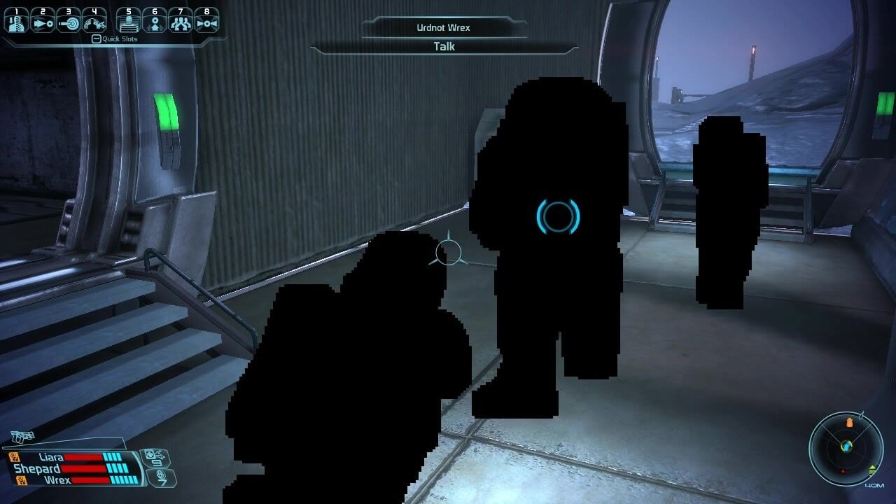 Mass Effect black blob issue