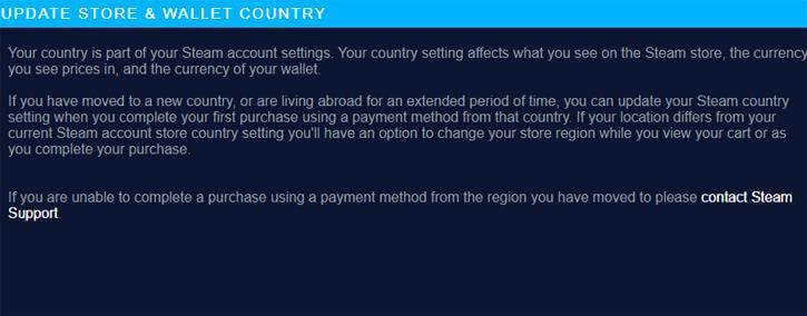Steam new VPN policy
