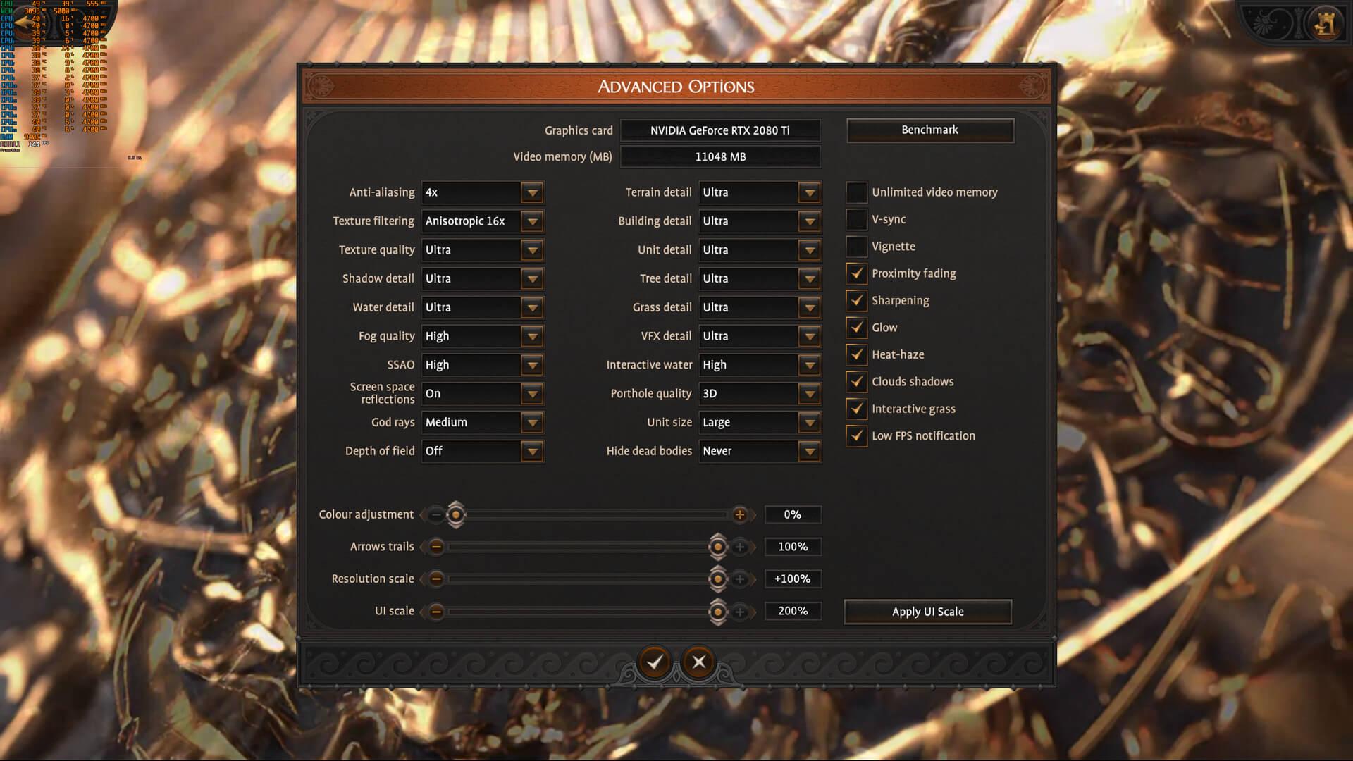 A Total War Saga TROY PC graphics settings