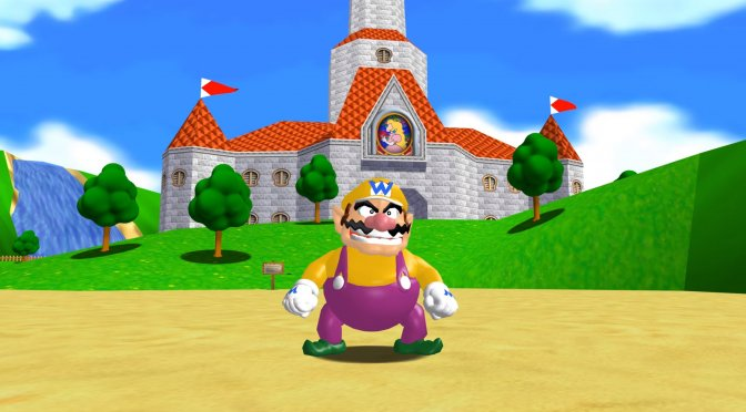 You can now play as Wario in the Super Mario 64 PC native DX12 game