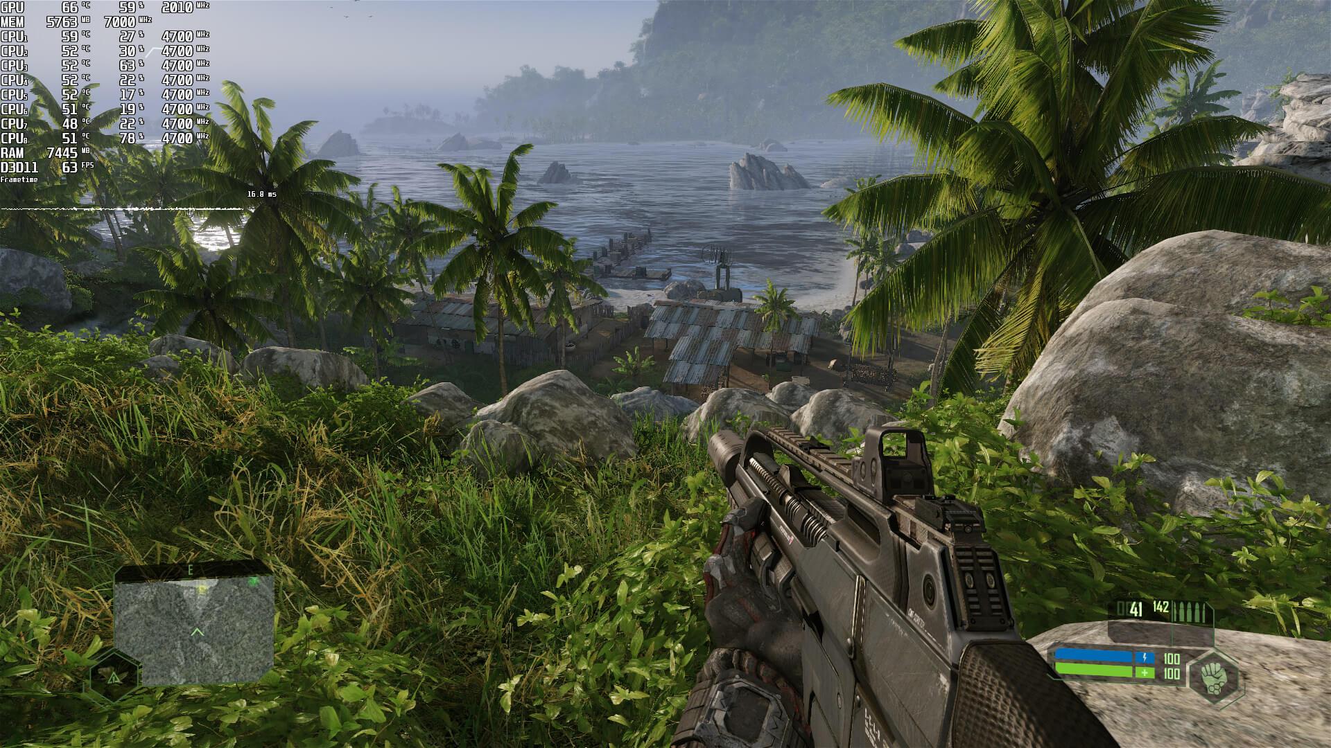 Crysis Remastered 1080p High Settings