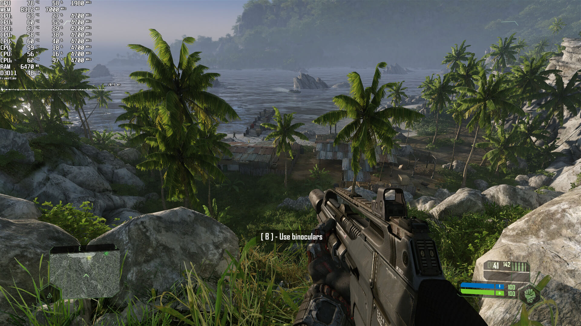 Crysis Remastered 1080p Very High settings