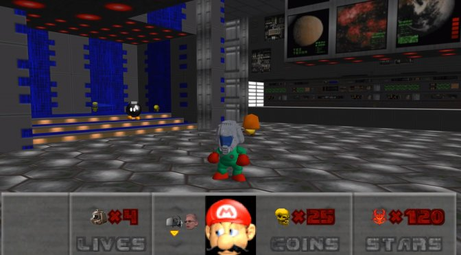 Here is an impressive Doom mod for Super Mario 64 PC