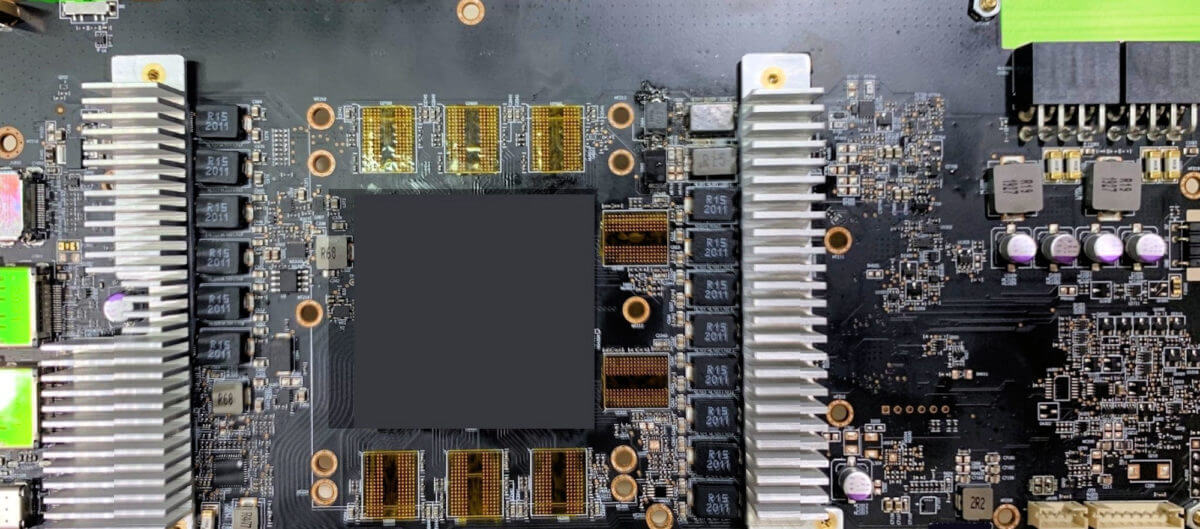 AMD Navi 21 GPU engineering PCB