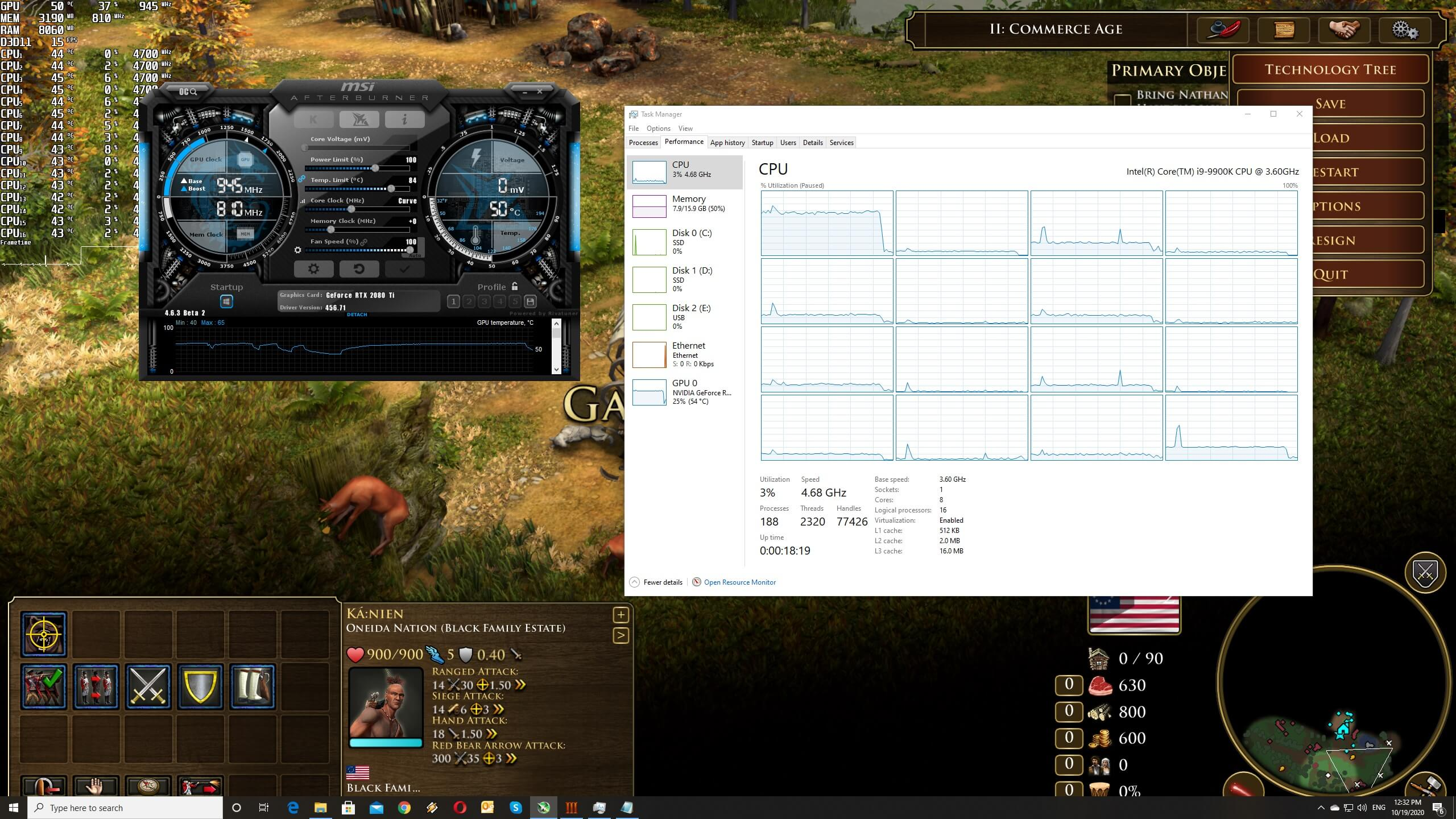 Age of Empires 3 Definitive Edition CPU scaling