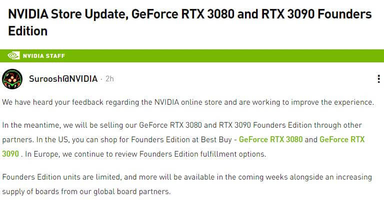 GeForce RTX 3080-3090 Ampere select partners