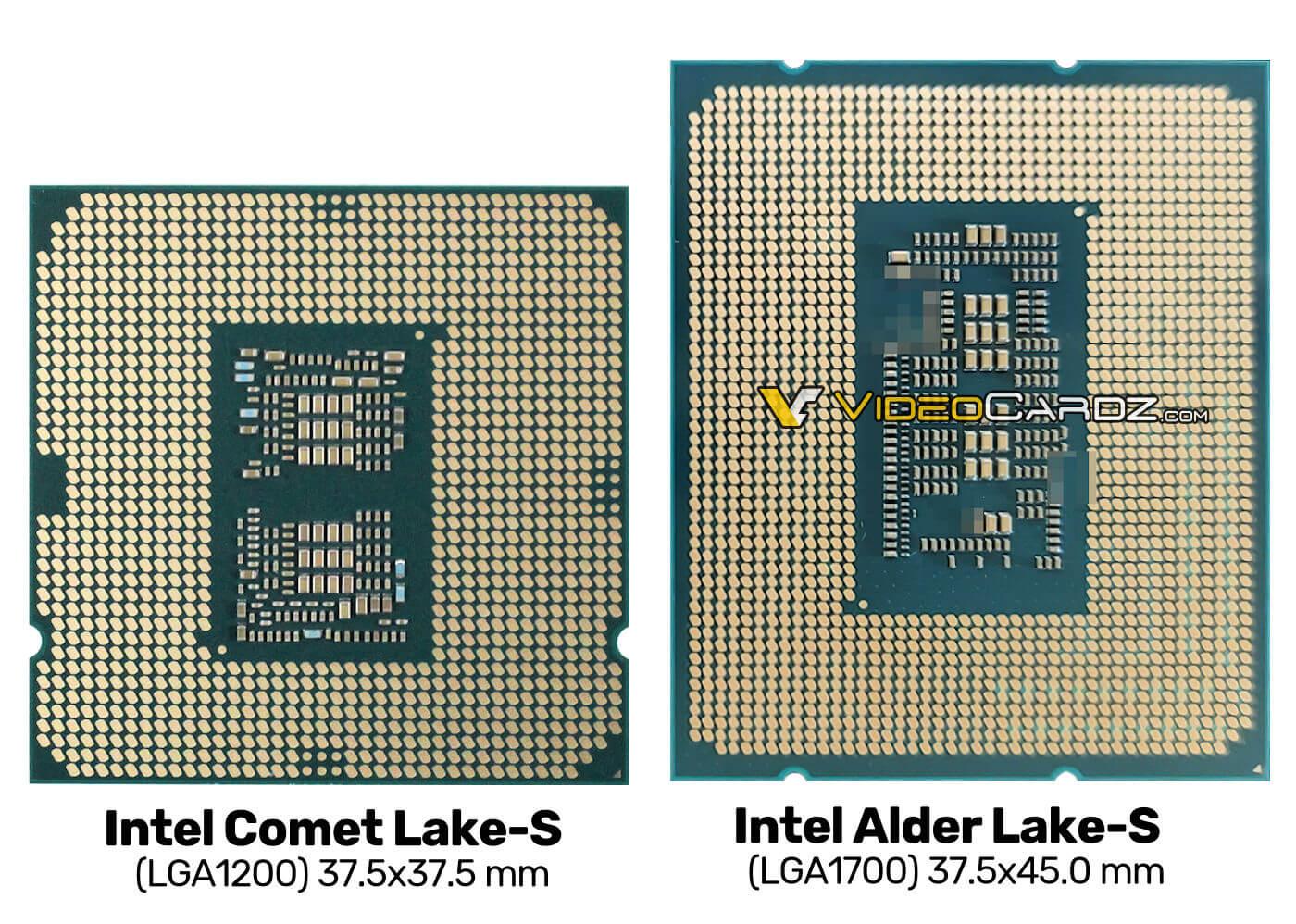 Intel Alder Lake-S chipset close up
