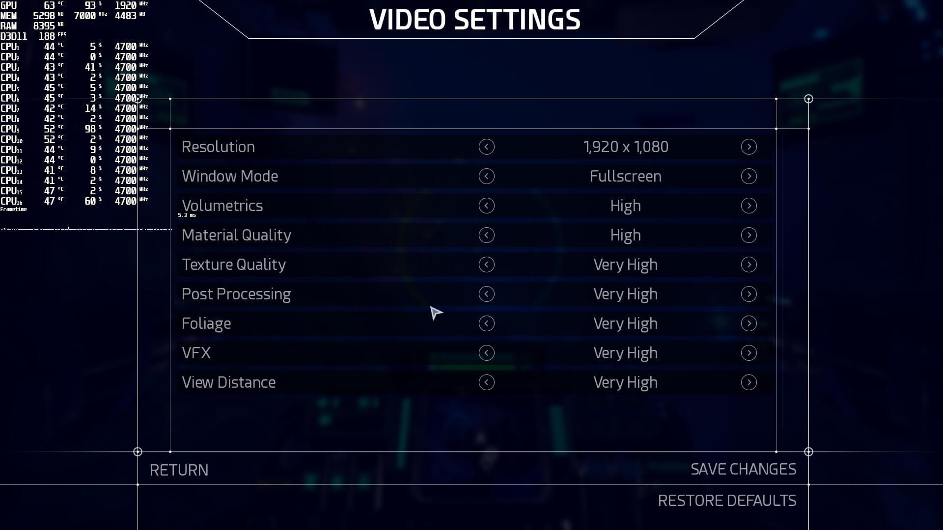 Aquanox Deep Descent graphics settings