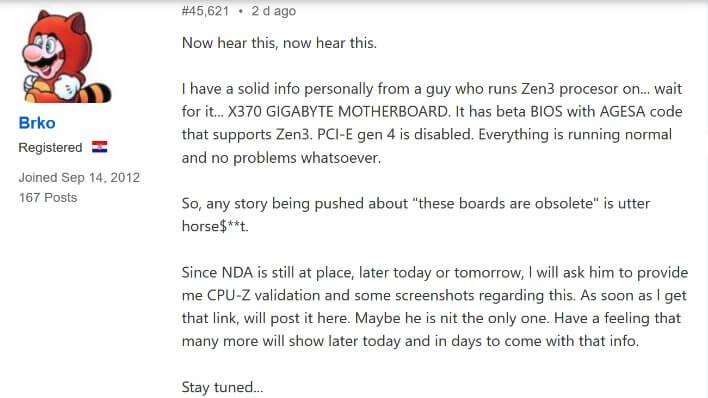 Gigabyte X370 AMD Zen 3