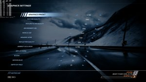 Need for Speed Hot Pursuit Remastered graphics settings-