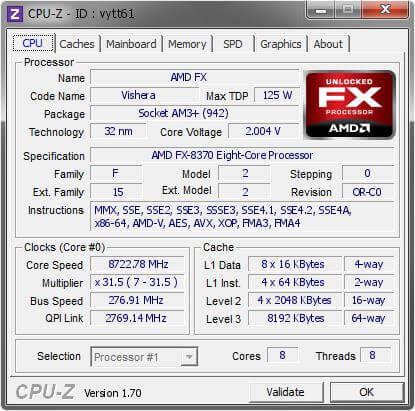 AMD FX-8370 8Ghz