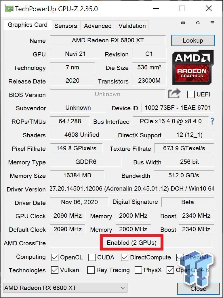 AMD RX6800XT Crossfire