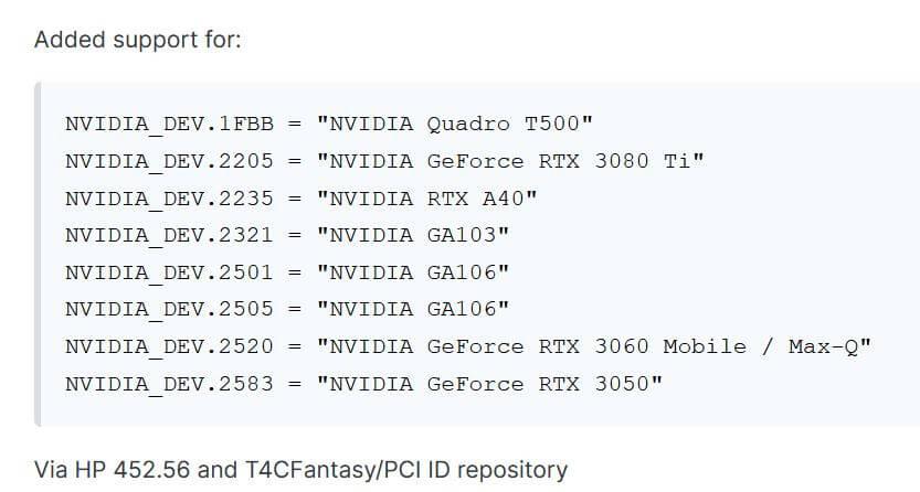 NVIDIA RTX3080Ti in OEM drivers