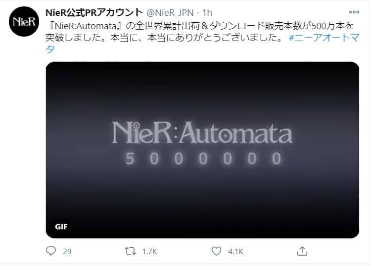 nier automata 5 million